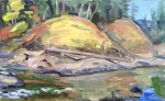 Elwha River roadside, plein air study