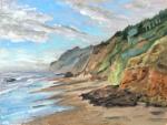 Ocean Beach Wayside, Yachats, plein air study