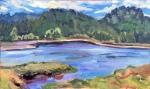 Salmon River plein air study