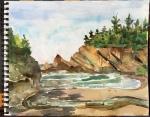 Simpson Cove, Cape Arago, plein air study