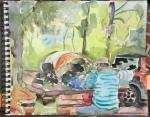 Prairie Creek campsite, CA Redwoods, plein air study