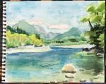 Quinault River plein air study