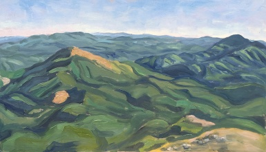 Coastal Range, South from Mary's Peak, Plein Air